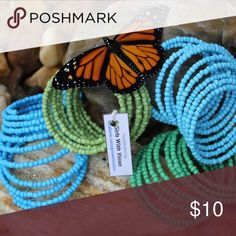 Samantha's Treasure Turquoise Beaded Bracelet Samantha's Treasure Beaded Bracelet Made by Girls with Vision in KENYA, Africa 25% of the profit from this sale will go back to Girls with Vision to put towards education and discipleship that brings life, hope and healing. Jewelry Bracelets