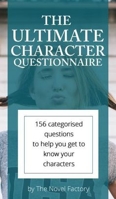 The Ultimate Character Questionnaire - over 150 questions grouped into categories. Advice on the do's and don't of using the character questionnaire, and links to more character development worksheets and templates. Writer Tips, Book Writing Tips, Writing Process, Writing Resources, Writing Help, Writing Skills, Writing Software, Character Questionnaire, Writing Characters