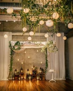 Browse our Indoor wedding photo gallery for thousands of beautiful wedding pictures. Find amazing wedding ceremony ideas and get inspiration for your wedding. Winter Wedding Arch, Wedding Ceremony Arch, Fall Wedding Colors, Wedding Flowers, Wedding Arches, Ceremony Backdrop, Indoor Fall Wedding, Reception Entrance, Wedding Greenery