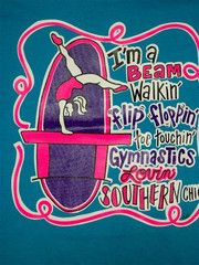 Southern Chics Funny Lil Girl Gymnastics Kids Youth Bright T Shirt | SimplyCuteTees
