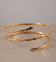Hammered Gold Double Snake Bracelet | Jewelry Bracelets | Ilsa Loves Rick | Scoutmob Shoppe | Product Detail