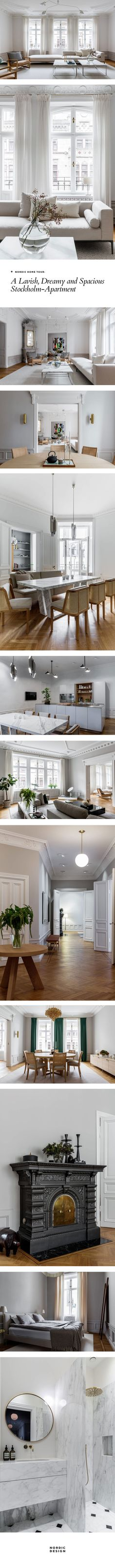 Nordic Home Tour: A lavish, dreamy and spacious Stockholm-apartment #nordicdesign #interiordesign #homestyling #luxury #stockholm #scandinaviandesign #scandinavianinterior #scandinavianhome #hometour