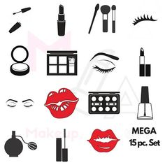 Our Makeup Icon Decal Set will not only inspire you but will make your vanity area fun. This decal set will get you set up to makeup. All of your cosmetics and beauty supplies organized and at your finger tips. Use these decals on vanity Hanging Makeup Organizer, Vanity Organization, Rangement Makeup, Korean Eye Makeup, Make Up Storage, Make Up Organiser, Glam Room, Best Foundation, Foundation Brush