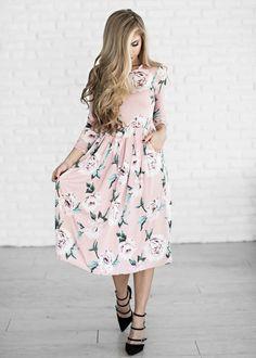floral, floral dress, blonde, style, easter dress, fashion, womens fashion, jessakae