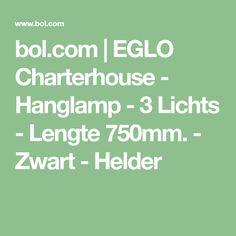 bol.com   EGLO Charterhouse - Hanglamp - 3 Lichts - Lengte 750mm. - Zwart - Helder