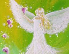 Limited angel art poster I give you light modern