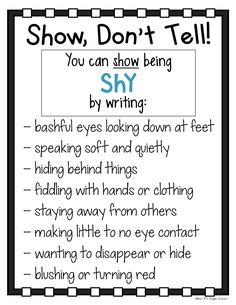 My students have such a hard time with adding description to their writing. These Show Book Writing Tips, Writing Strategies, English Writing Skills, Narrative Writing, Writing Words, Writing Lessons, Writing Resources, Teaching Writing, Writing Activities