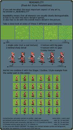 Readability - Pixel art Style possibilities by Cyangmou.deviantart.com on @DeviantArt