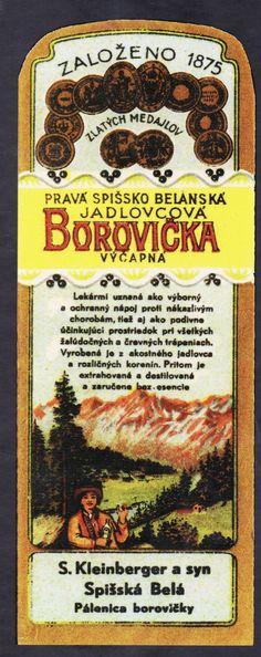 Dobové etikety: Borovičku vyrábali najmä židovskí liehovarníci. Predávala sa aj kóšer borovička. | Nový Čas Bread, Food, Fotografia, Alcohol, Eten, Bakeries, Meals, Breads, Diet