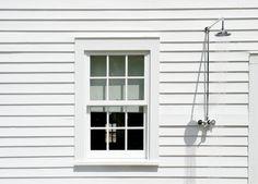 Outdoor Shower simple plumbing ; Gardenista