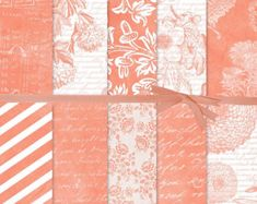 Excited to share this item from my shop: Floral Digital Paper:Peach Digital Paper, Coral Digital Paper, French Script Digital Paper, Wedding Paper, Botanical Digital Paper Blog Backgrounds, Digital Backgrounds, Digital Scrapbook Paper, Digital Papers, French Script, Design Studios, Printable Paper, Wedding Paper, Scrapbook Supplies