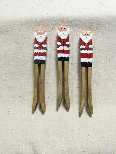 Santa Clothespin Christmas Ornament Set of 3 by TheCountryTouch, $14.50