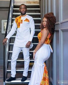 The most beautiful couples rock the most beautiful Latest Native Styles For Couples. These are the best collection of Latest Native Styles For Couples in 2108 Couples African Outfits, African Dresses Men, Latest African Fashion Dresses, Couple Outfits, African Print Fashion, African Prints, Couple Clothes, Family Outfits, African Wedding Attire
