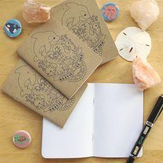 Ocean Cuties Refuse to Sink Pocket Journal ( Notebook, Sketchbook, Mini, planner, lists, gift, cute)