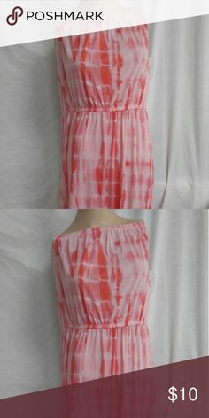 Xlarge salmon color tie dye maxi dress This dress is too big for the mannequin so I had to pull it up high. It is brand new and never worn. Faded Glory Dresses Maxi
