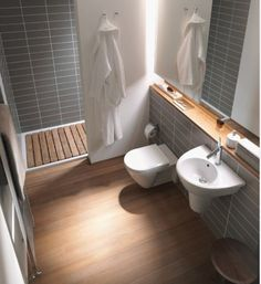 Duravit wall hung Stark pedestal and toilet