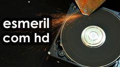 Como fazer um esmeril com HD (esmeril caseiro)