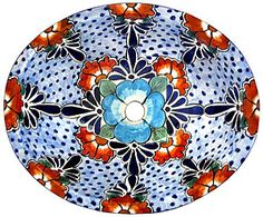 Talavera sinks feature wonderfully intricate floral and animal patterns that will become the highlight of any bathroom decor! The ceramic of these Talavera sinks is hand-painted in Dolores Hidalgo, Mexico, and embodies all the classic charm of Mexican Talavera. Available in two sizes, all Talavera sinks from La Fuente Imports are self-rimming for easy installation, feature a built-in drain hole (connects to the bottom drain internally), and have a plain white exterior.