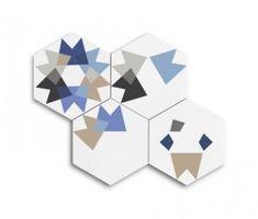 Baldosa hidráulica hexagonal Keidos (20x23x1,6cm) - enticdesigns