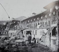 Carol Popp de Szathmary - Manuc Inn (Hanul lui Manuc), late 1860s