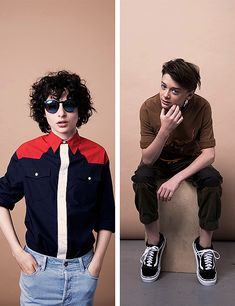 february embers — Finn Wolfhard and Noah Schnapp photographed by...