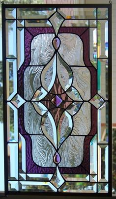stained glass window hanging in Antiques, Architectural & Garden, Stained Glass Windows | eBay