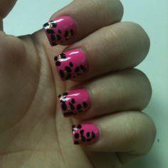 Cheetah nails  | See more nail designs at http://www.nailsss.com/nail-styles-2014/2/