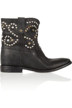 Isabel Marant | The Caleen studded leather concealed wedge boot | NET-A-PORTER.COM