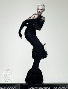 Photographer: Craig McDean Magazine: Another Model: Tilda Swinton Tilda Swinton, Dark Fashion, Fashion Art, High Fashion, Fashion Beauty, Fashion Design, Fashion Blogs, Craig Mcdean, Mode Editorials