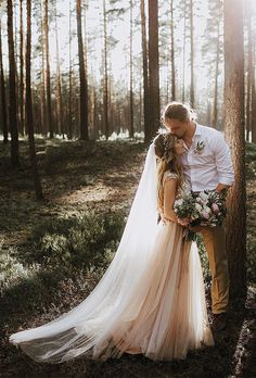 outdoor wedding photography We love the earthiness of forest wedding and this couple gave themselves a classic fairytale twist Wedding Photoshoot, Wedding Shoot, Wedding Couples, Wedding Ceremony, Wedding Dresses, Photoshoot Images, Elopement Wedding, Wedding Kiss, Dream Wedding