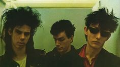 Nick Cave Mick Harvey and Rowland S. Howard of The Birthday Party (early 80s).