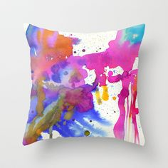 My summer colors Throw Pillow by Ninola - $20.00