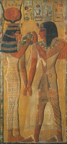 King Sety I, from his tomb in the Valley of the Kings (KV 17). New Kingdom, Dynasty 19.