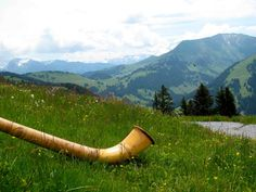 The alphorn or alpine horn is wooden horn used by mountain dwellers in Switzerland. Similar wooden horns were used for communication in most mountainous regions of Europe.