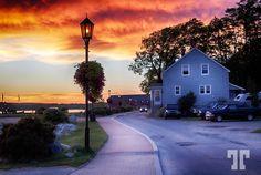 Shelburne, Nova Scotia at dusk