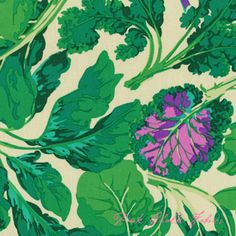 Back of red quilt? Martha Negley Classics Collection Veggie Leaves Pastel
