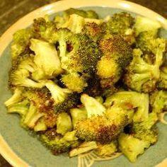 Brokkoli aus dem Backofen, vegan, Brokkoli aus dem Ofen