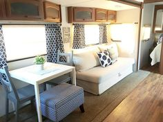 Awesome Camper Renovation Ideas Make Comfortable Van. Ideally, you're want to discover the camper when it's completely laid out. The truly amazing thing about building your own camper is there are so many. Rv Living, Remodeled Campers, Camper Interior Design, Home, Camper Living