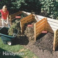 Shed DIY - Composting Tips: Kick your composting up a notch with these tips. Using this simple 3-bin composter you can turn yard and kitchen waste into rich compost in 4 to 6 weeks. Read more: www.familyhandyma... Now You Can Build ANY Shed In A Weekend Even If You've Zero Woodworking Experience!