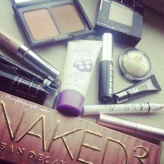 Makeup of the day.  #makeup #motd #fotd #makeupmess #makeupporn #urbandecay #naked3 #eyeshadow #palette #maybelline #rimmel #rimmellondon #scandaleyes #liquidliner #covergirl #elf #blush #bronzer #primer #buxom #mascara #mini #sample #highlight #nyx #toofaced #betterthansex