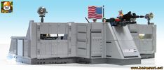 https://flic.kr/p/27qzerS | LEGO JOE HQ COMMAND CENTER 09 | Front view in wallpaper style of my Lego GI Joe HQ playset.  See other photos in my Lego Joe album here : www.flickr.com/photos/8107354@N03/albums/72157697823814564  www.baronsat.net