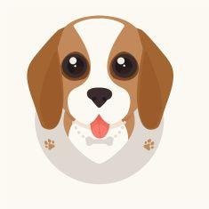 beagle puppy vector art illustration