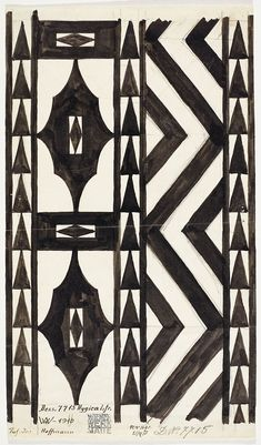 Josef HOFFMANN. Design for a runner Hygica for the Wiener Werkstätte, pattern no. 7715, 1910. Backhausen GmbH. Photo © MAK/Georg Mayer < Ways to Modernism: Josef Hoffmann, Adolf Loos, and Their Impact | Yatzer. (hva)