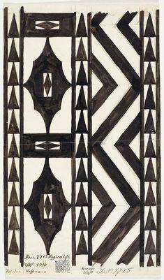 Josef Hoffmann. Design for a runner Hygica for the Wiener Werkstätte, pattern no. 7715, 1910. Backhausen GmbH. Photo © MAK/Georg Mayer.