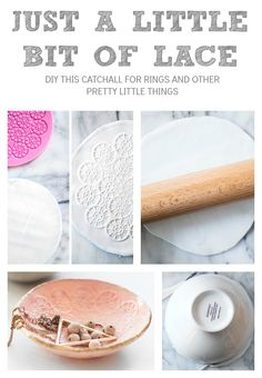 The perfect diy catchall for rings and other little things. Store your jewerly in this easy and gorgeous plate.