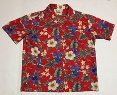 9ca6010b Kalena Fashions Of Hawaii Hawaiian Shirt XL Floral Tropical Parrots USA  Aloha HI