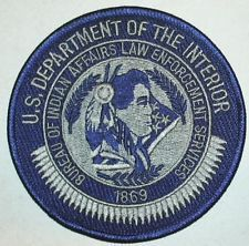 US BUREAU OF INDIAN AFFAIRS LAW ENFORCEMENT POLICE PATCH