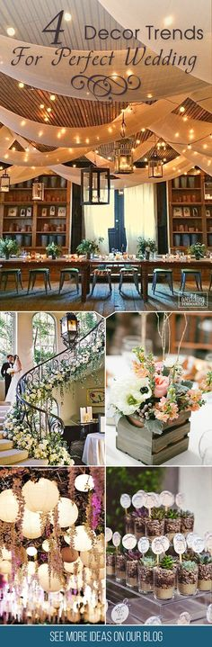 We have some of the gorgeous wedding decor trends that you may be wanting to try for your special wedding day. Wedding Reception, Wedding Venues, Wedding Day, Bridesmaid Brunch, Wedding Decorations, Table Decorations, Wedding Planning Checklist, Host A Party, Event Ideas