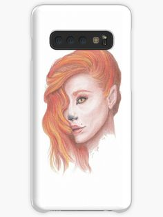 / I used Faber-Castell polychromos to draw this image. Girl Cases, Fox Girl, Galaxy Design, Polychromos, Style Snaps, Faber Castell, Sell Your Art, Protective Cases, Colored Pencils
