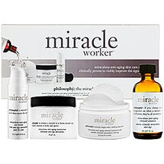 Philosophy's miracle worker helps with skin's firmness, deep wrinkles + pore reduction. Worth the money!